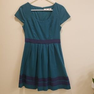 Annabella Dress Teal & Navy dress